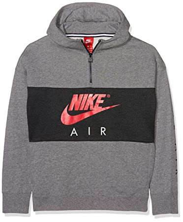 Nike Kinder B Nk Air Hoodie Hz Po Sweatshirt, Grau (Carbon  Heather Anthracite d8954a1491