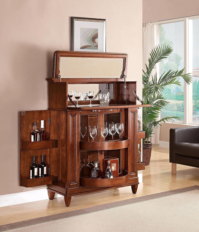 amazon com pulaski jensen bar cabinet espresso brown kitchen amazon com pulaski jensen bar cabinet espresso brown kitchen dining