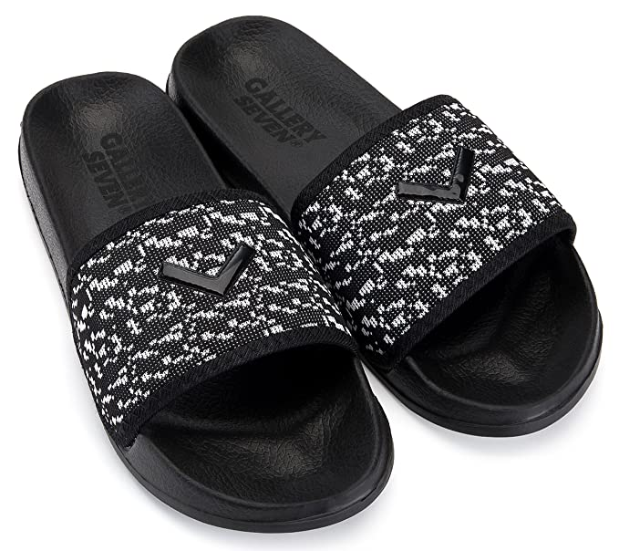 1fef45694b55 Image Unavailable. Image not available for. Color  Gallery Seven Mens  Athletic Slide Sandals - Beach ...
