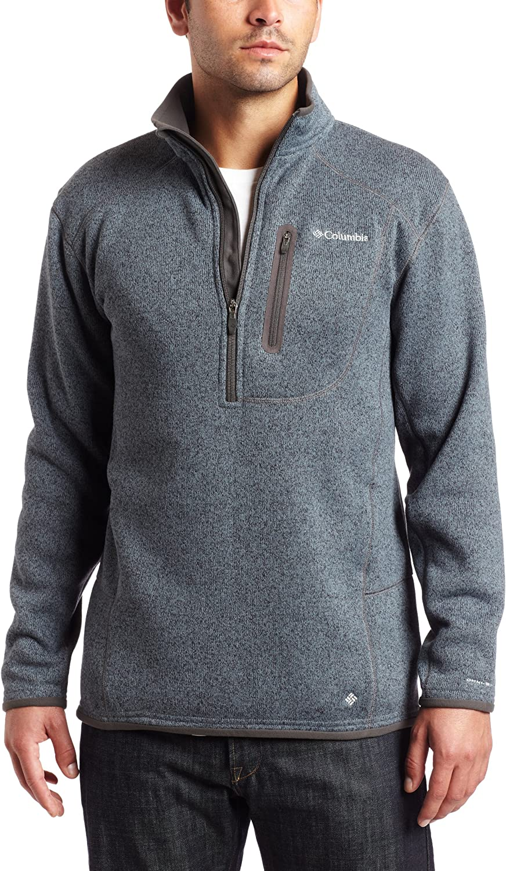 Columbia Men's Altitude Aspect Japan Maker New 1 Sleeve Zip Long Shirt Direct stock discount 2