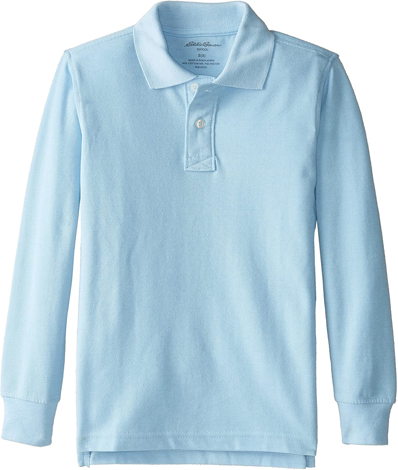 Eddie Bauer Boys' Long-Sleeve Pique Polo Shirt Eddie Bauer Uniforms Boys 2-7 IB51