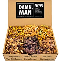 Assorted Nuts Gift Box Set - Bar Mix Includes Six Unique Flavors Made From Cashews, Almonds, Pecans, Peanuts – Great…