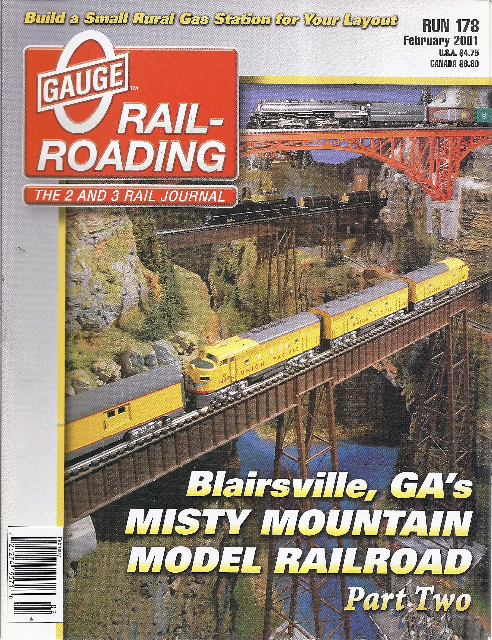 O Gauge Rail-Roading Magazine (Run 178 - February 2001 - Blairsville, GA's Misty Mountain Model Railroad, Part 2) PDF