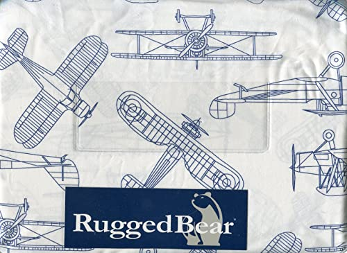 Rugged Bear Vintage Airplane Sheet Set