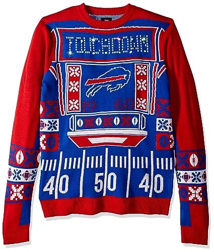ac8156fd6 FOCO NFL Buffalo Bills Mens Ugly Light Up Crew Neck Sweaterugly Light Up  Crew Neck Sweater