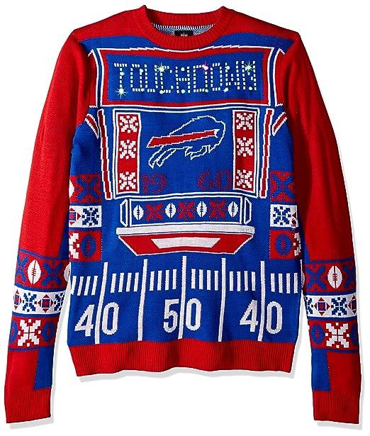 online store 097ec 8e80e FOCO NFL Mens Ugly Light Up Crew Neck Sweater