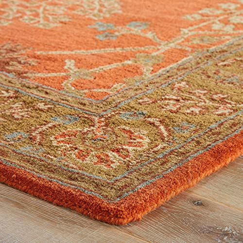 Jaipur Living Chambery Hand-Tufted Oriental Orange Area Rug 9'6″ X 13'6″