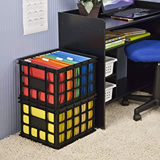 product image for Sterilite 16929006 Storage Crate, Black, 6-Pack