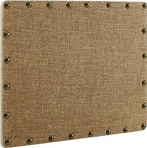Linon Burlap Nailhead Small Corkboard