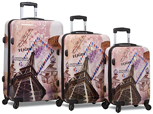 aedc6562a Rolite City Stamping Lightweigt 3-pcs Expandable Hardshell Spinner Luggage  Set (FLIGHT)