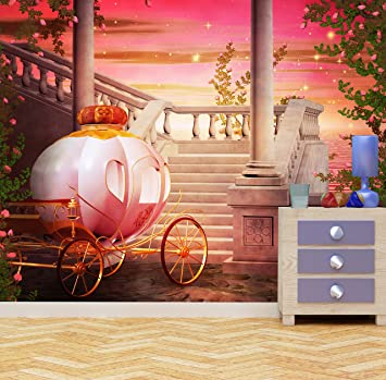 WALL ART DESIRE Fantasy Carrosse de Princesse Papier Peint ...