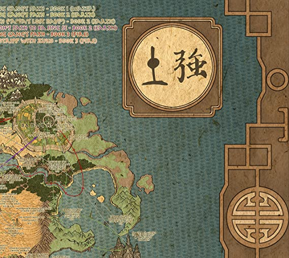 Best Print Store Avatar The Last Air Bender Map Poster (13x19 inches)