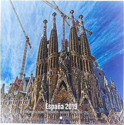 Grupo Erik Editores CP19075 - Calendario 2019 España, 30 x 30 cm: Amazon.es: Oficina y papelería