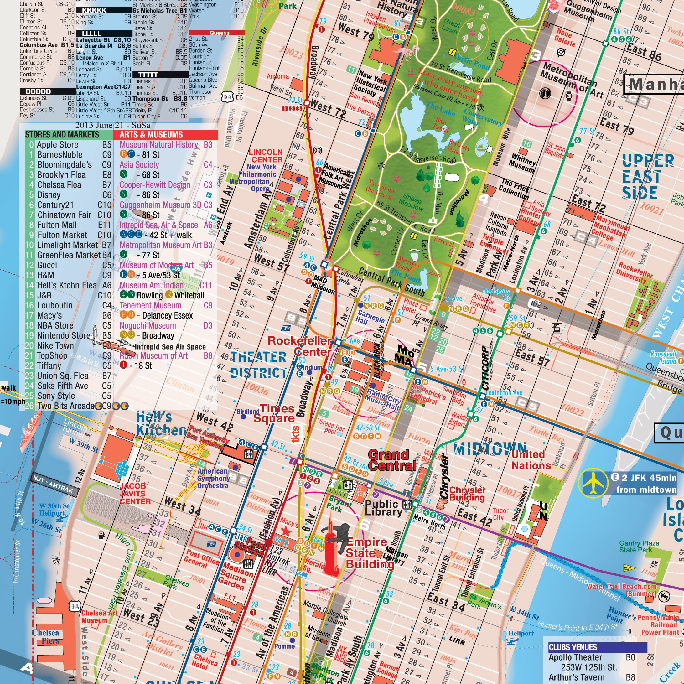 Map Of New York Landmarks.Nfld Guide Of New York City Map And Listings Landmarks Museums