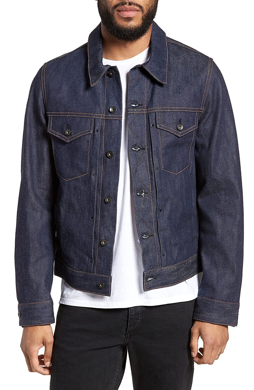 ラグアンドボーン メンズ ジャケットブルゾン rag & bone Defnitive Denim Jacket [並行輸入品] B07CNVW3BH X-Large