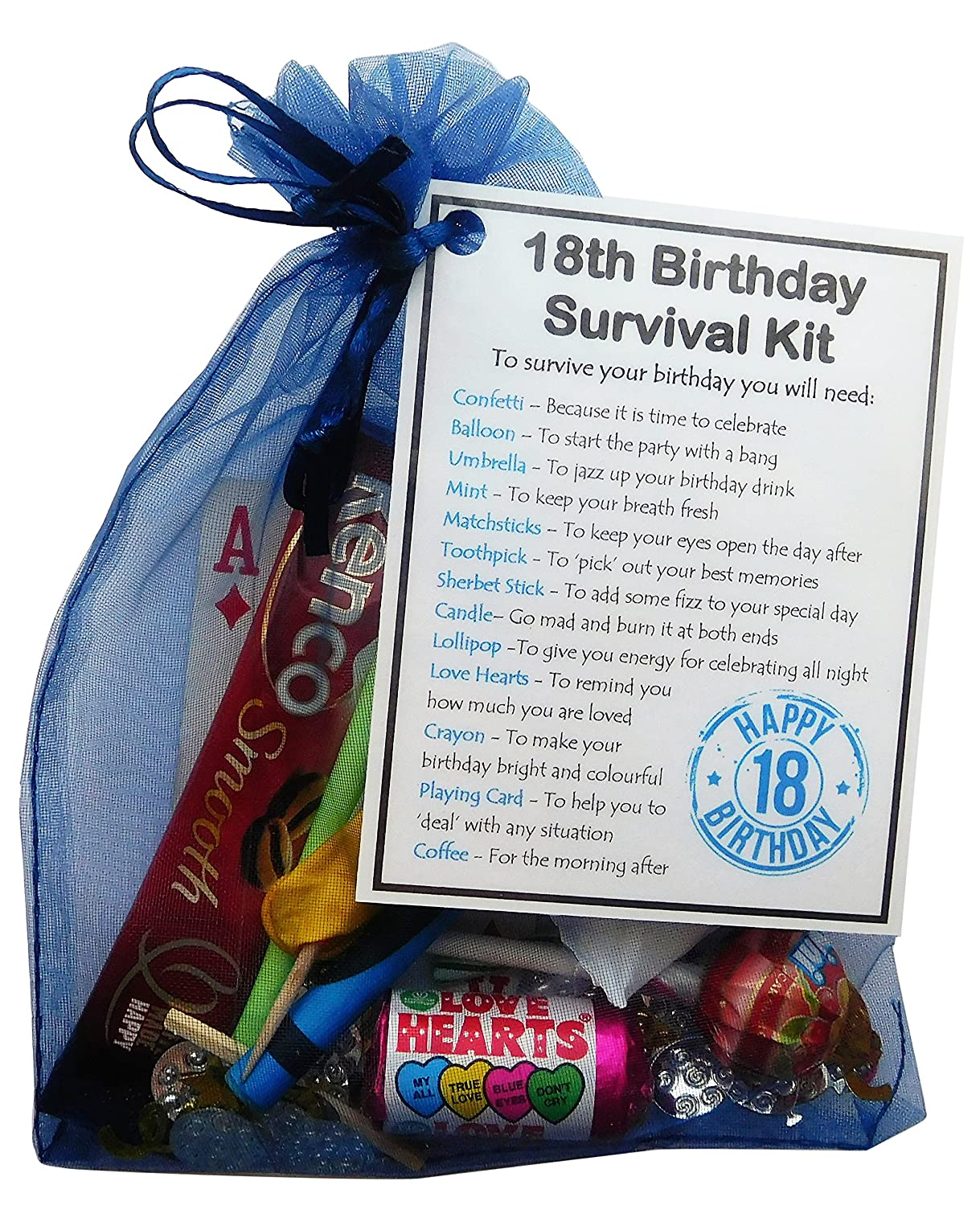 SMILE GIFTS UK 18th Birthday Survival Kit Gift