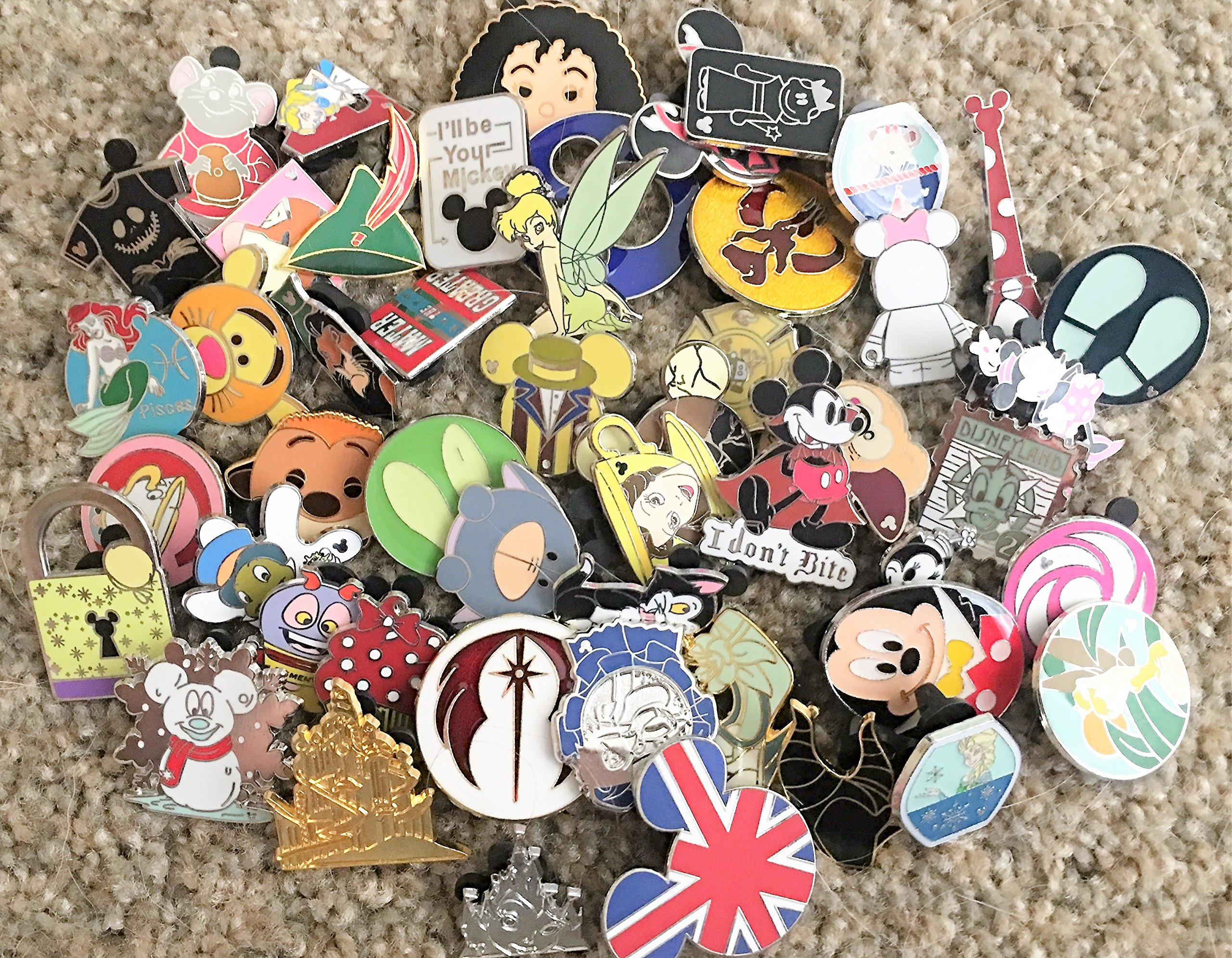 Disney Trading Pins-Lot of 10-No Duplicates-LE-HM-Rack-Cast-Free Shipping