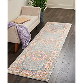 """Nourison Passion Traditional Area Rug, 2'2""""X7'6"""", GREY"""