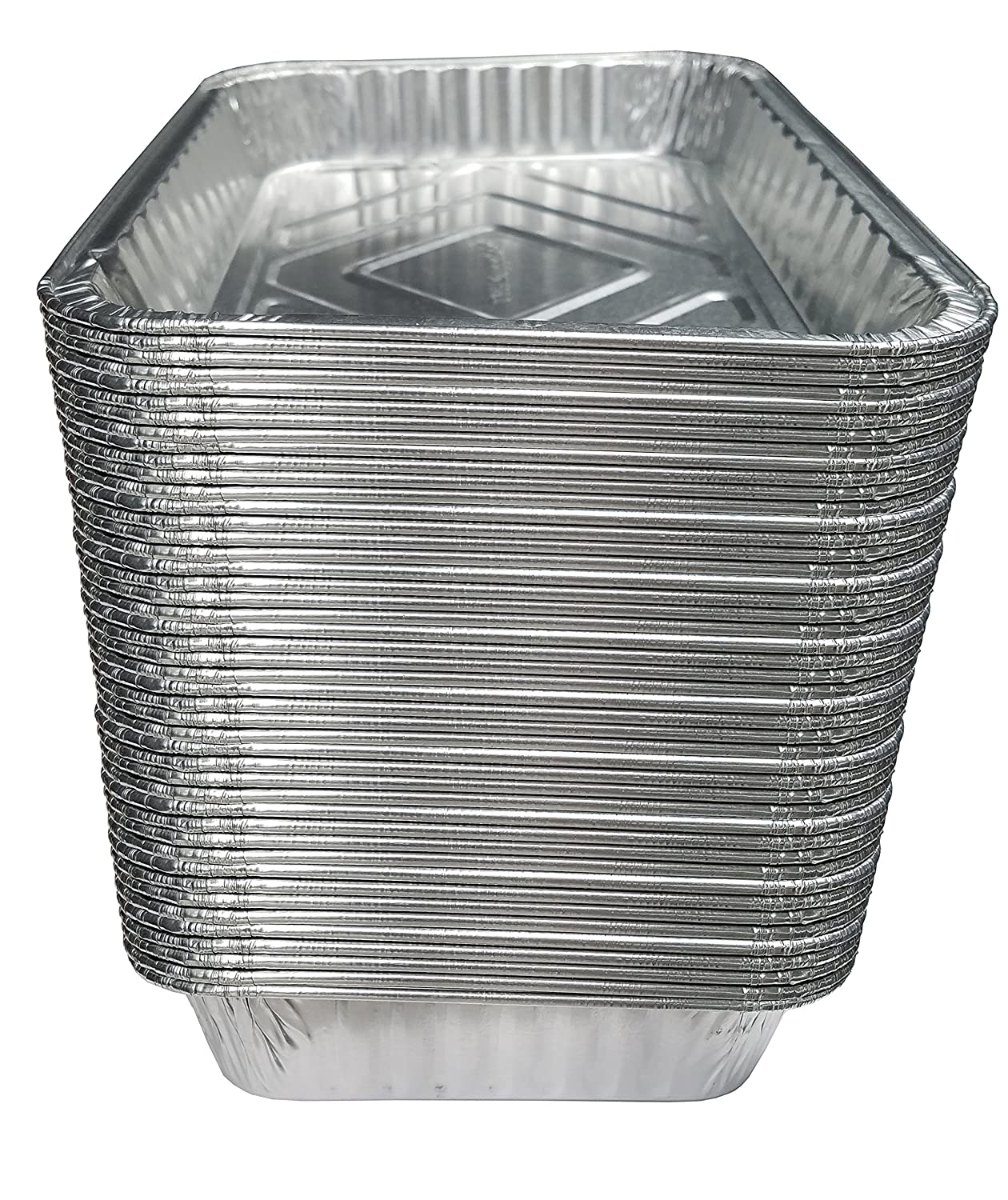 """TYH Supplies Aluminum Foil BBQ Grease Drip Pans for Weber Grills Q, Pulse, Spirit, Spirit II, Genesis II LX 200 and 300 Series Gas Grill 7.5"""" x 5"""", 50-Pack"""