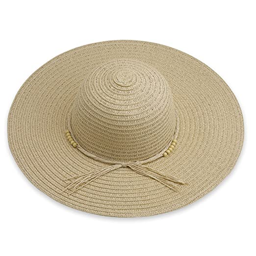 23d2b58202a687 Debra Weitzner Beach Straw Floppy Hat for Women Wide Brim - Sun Protection  - Packable Foldable Summer Sun hat for Ladies - Beige at Amazon Women's  Clothing ...