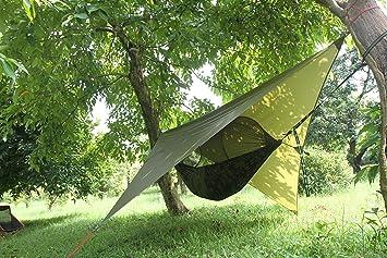 Tente De Camping Tente Bâche étanche Hamac Gare Dombrage Auvent De