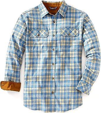 Giftsdotcom Venado - Camisa de Franela para Hombre - Camisa de Franela a Cuadros con Refuerzo de Alcance Completo - Azul - XX-Large: Amazon.es: Ropa y accesorios