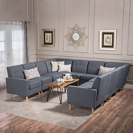 Amazon Com Great Deal Furniture Samuel Mid Century Modern 10 Piece