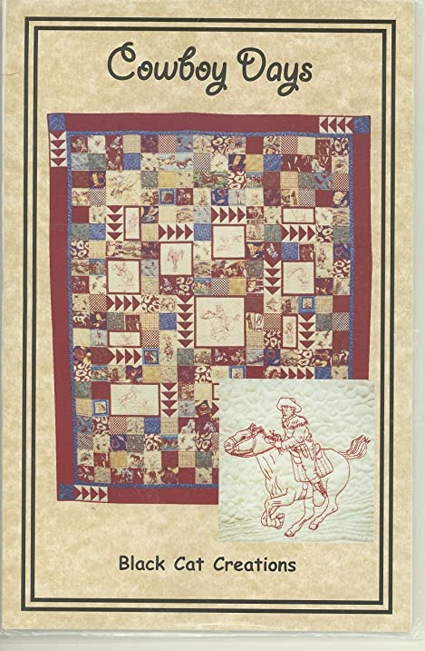 Amazon Cowboy Days Western Quilt Pattern By Black Cat Creations