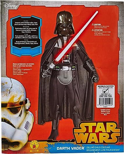 Rubies Déguisement Officiel Star Wars Déguisement Luxe Pour Enfant Dark Vador Taille M 5 7 Ans Cs855019m