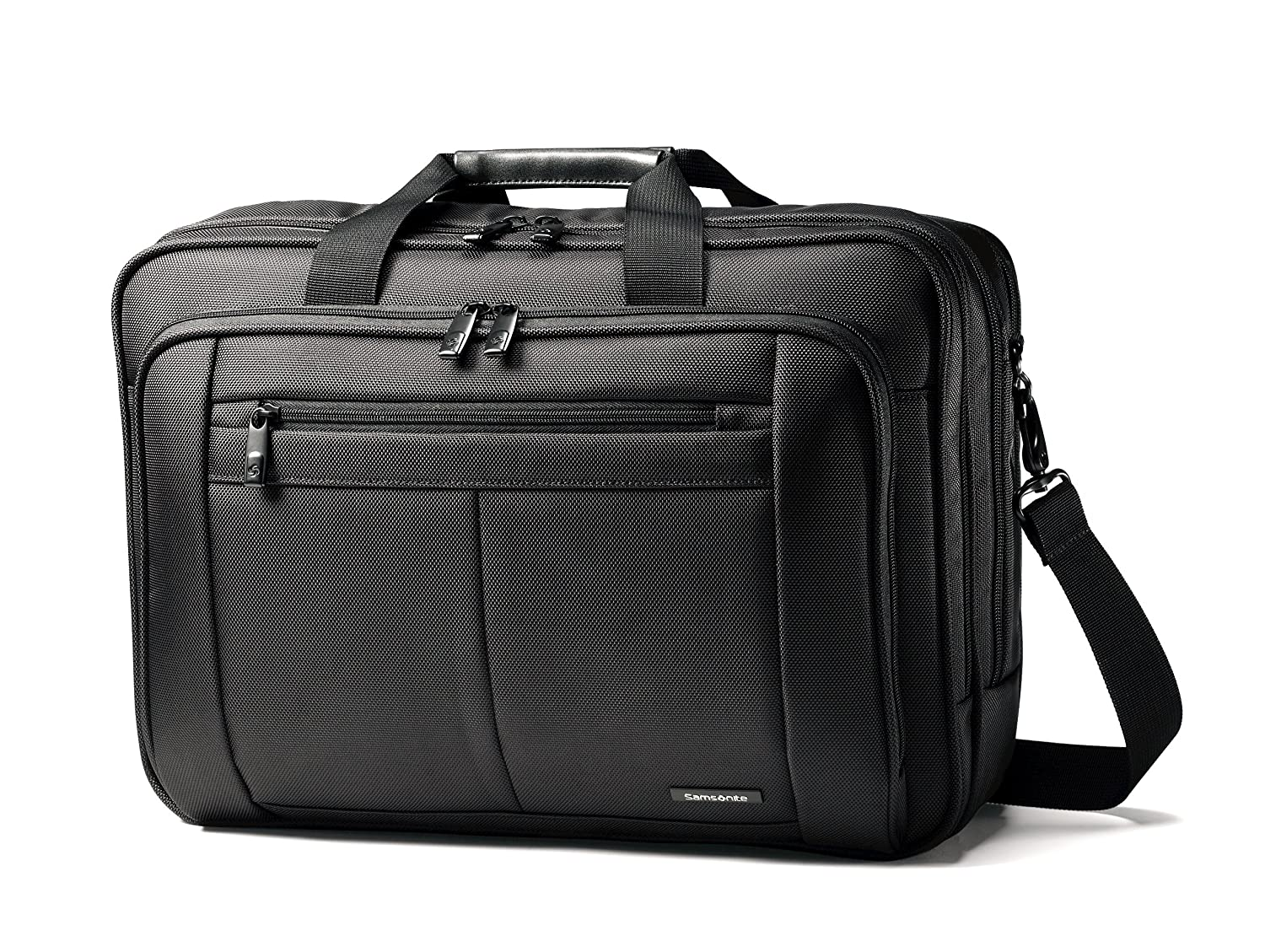 Samsonite Classic Business Three-Gusset Briefcase (15.6), Black 43270-1041