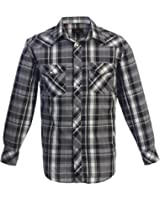Gioberti Studio 10  Men's Western Plaid Long Sleeve Shirt