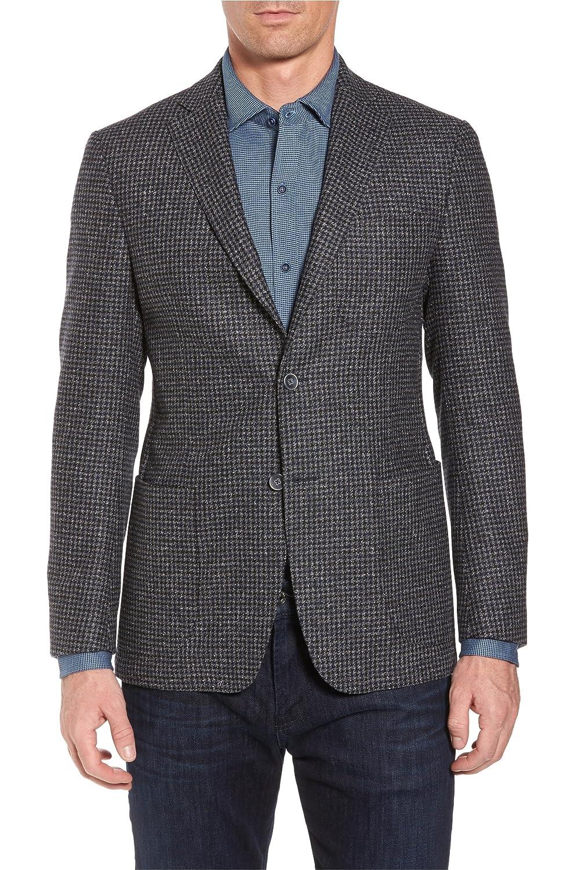 [ブガッチ] メンズ ジャケットブルゾン Bugatchi Wool Blend Houndstooth Blazer [並行輸入品] B07DW5KPJG 42 Regular