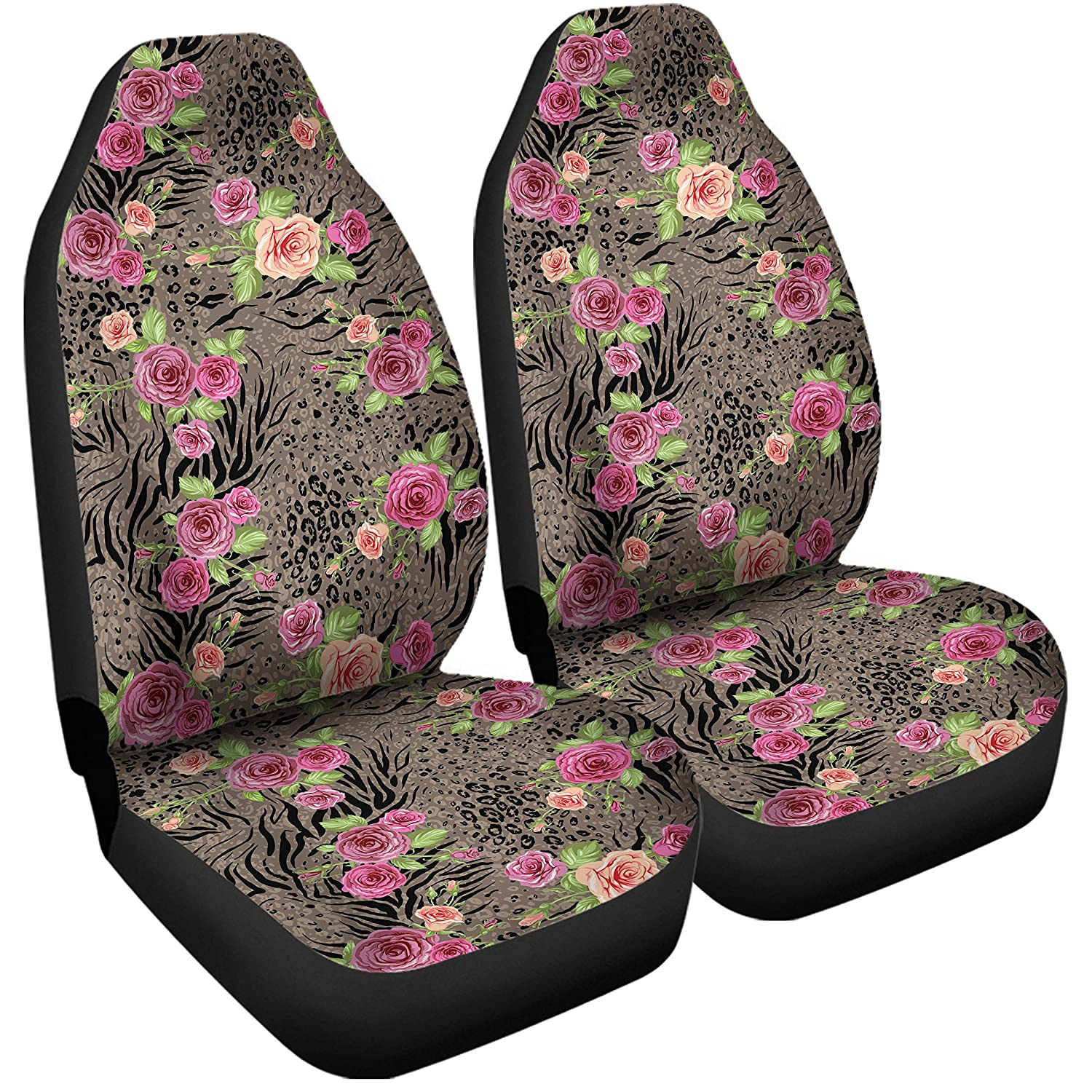 Amazon Gnarly Tees Floral Animal Print Car Seat Covers Automotive