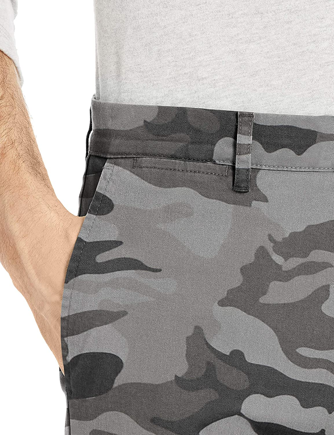 Goodthreads Men's Straight-fit Washed Chino Pant Grey Camo