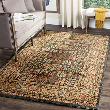 safavieh mahal collection mah697e traditional oriental navy and natural area rug 9u0027 x 12 - Natural Area Rugs
