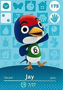 Nintendo Animal Crossing Happy Home Designer Amiibo Card Jay 175/200 USA Version