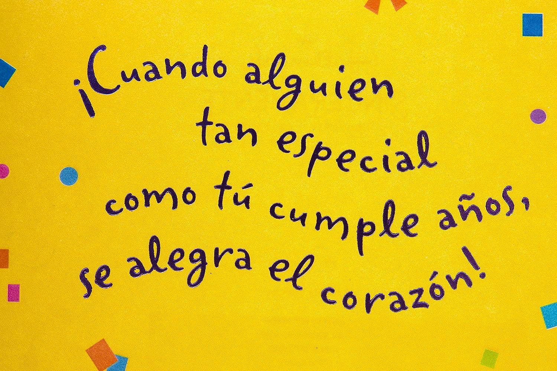 Amazon Hallmark Vida Spanish Birthday Card Feliz Lettering