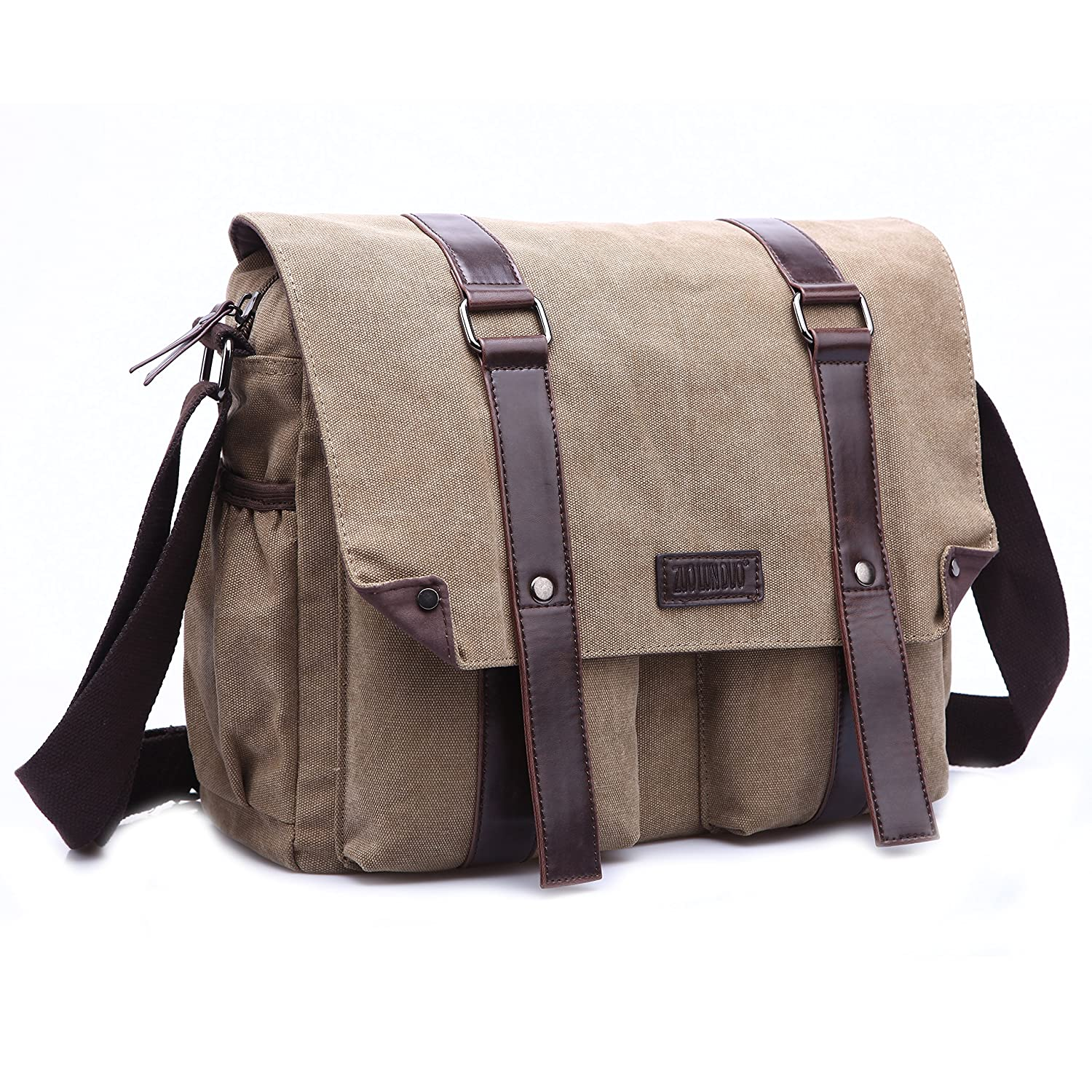 0d4d190091ef Canvas Shoulder Messenger Bag Casual Travel 15 inches Laptop College ...