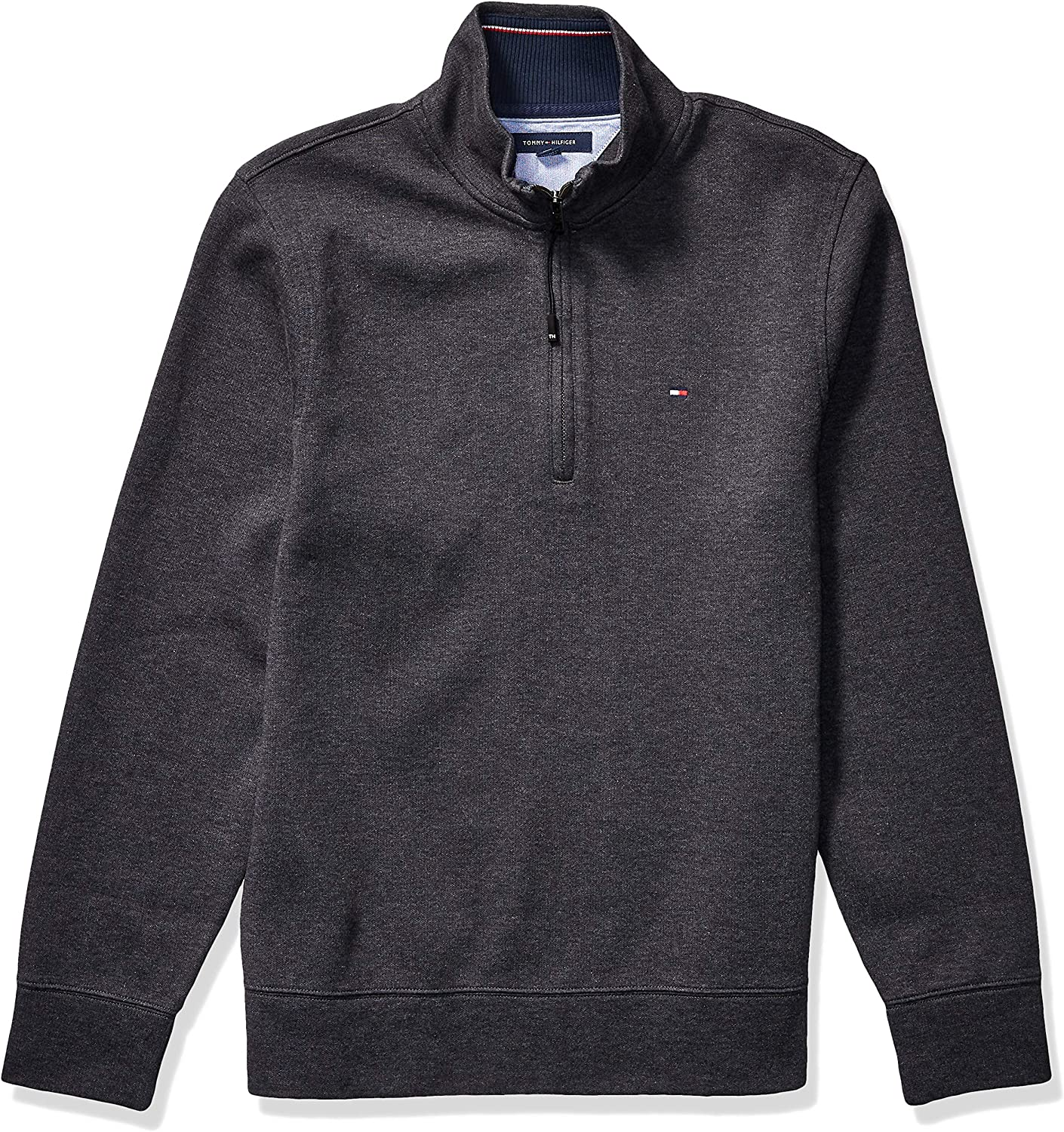 Tommy Hilfiger Men's Adaptive Mock Neck with Extended Half Zipper Pull