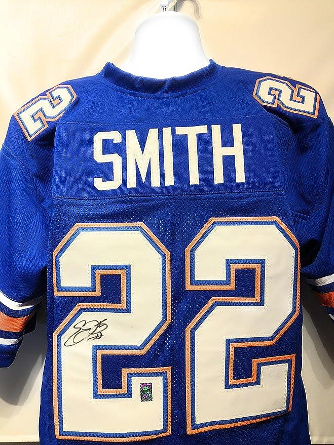online store e8eeb 52de1 Emmitt Smith Florida Gators Signed Autograph Blue Custom ...