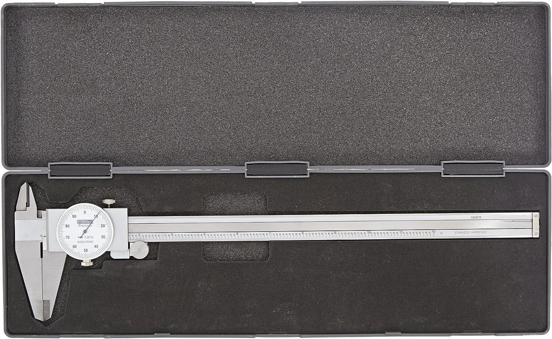 Fowler FOW-72-008-007 Dial Caliper White Face 0-6 Inch