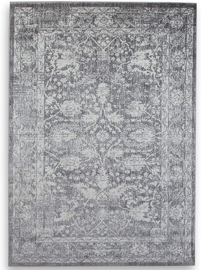 8x11 ft A2zrug Santorin 6076/Tapis 240x330 cm gris