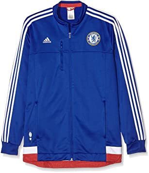 07705c942 adidas Men s FC Anthem Jacket - Chelsea Blue White Power Red