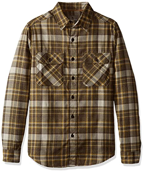 Royal Robbins Men's Performance Flannel Plaid Long Sleeve Shirt,CYPRESS ,Small