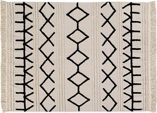 Lorena Canals Alfombra Lavable Bereber Canvas Algodón Natural - Beige , Negro - 200x140 cm: Amazon.es: Juguetes y juegos
