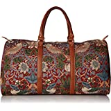 Signare Tapestry Holdall/Travel Bag with William Morris Strawberry Thief (Red)