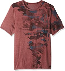 Buffalo David Bitton Mens Tarun Ss Burnout Fabric Crewneck Graphic Fashion T-Shirt