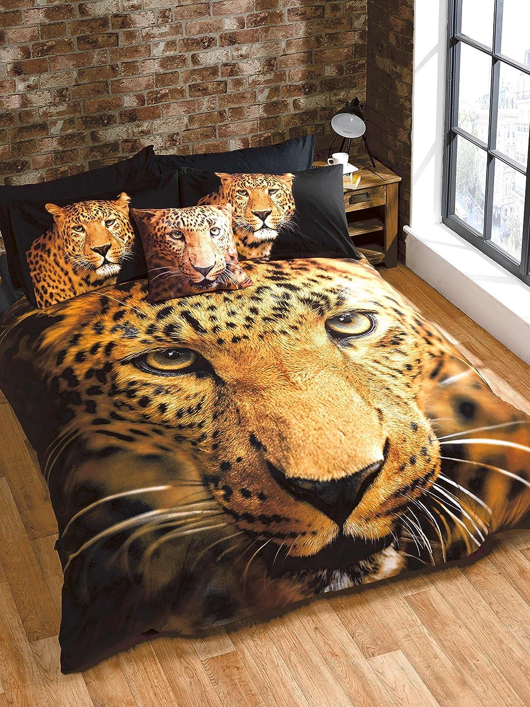 Rapport Leopard Housse de couette, Multicolore, double