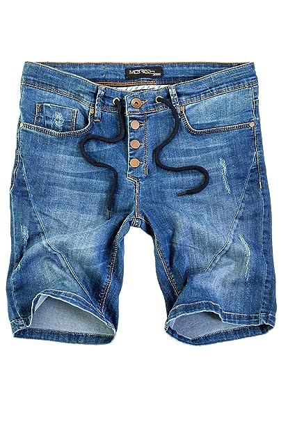 e446863af446 Merish Herren Denim Jeans Bermuda Shorts Used Look Modell J3013  Amazon.de   Bekleidung