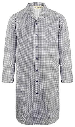 49a2b510d7 Walker Reid Mens 100% Woven Cotton 42 quot  or 106cm Blue Geo Print Long  Sleeve